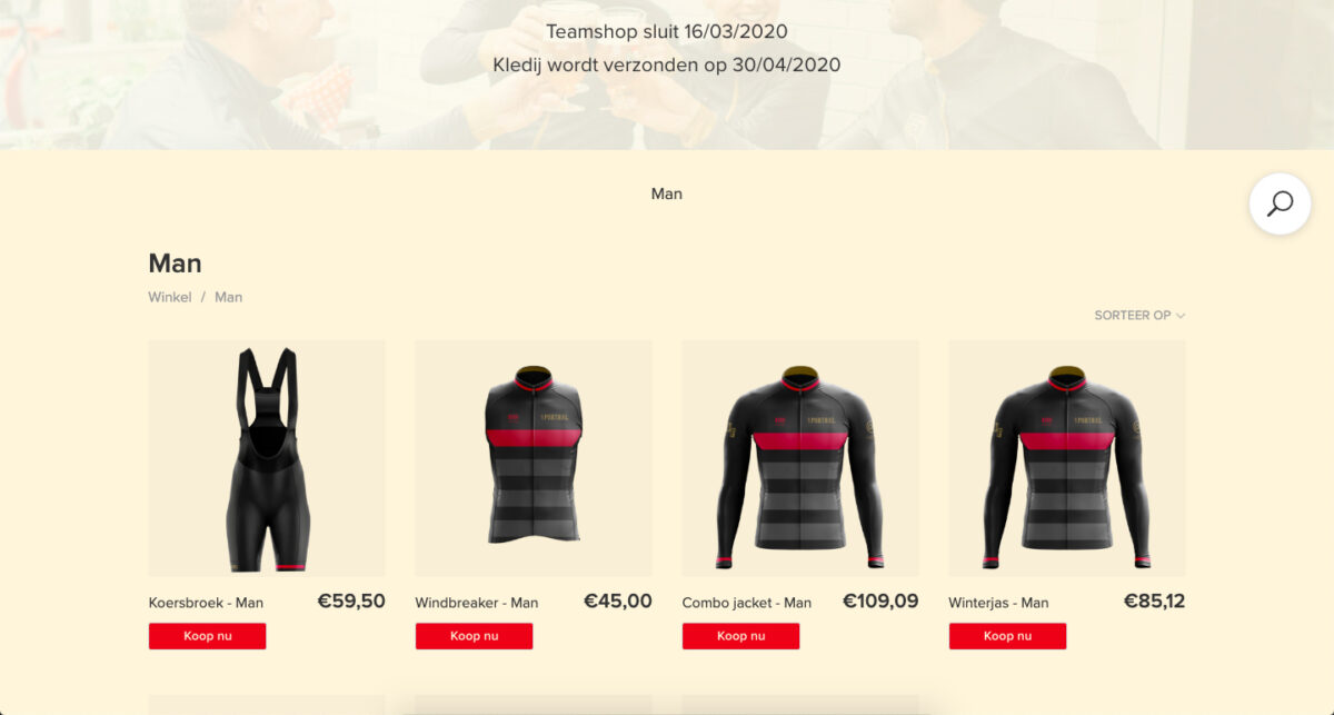 Teamstore example