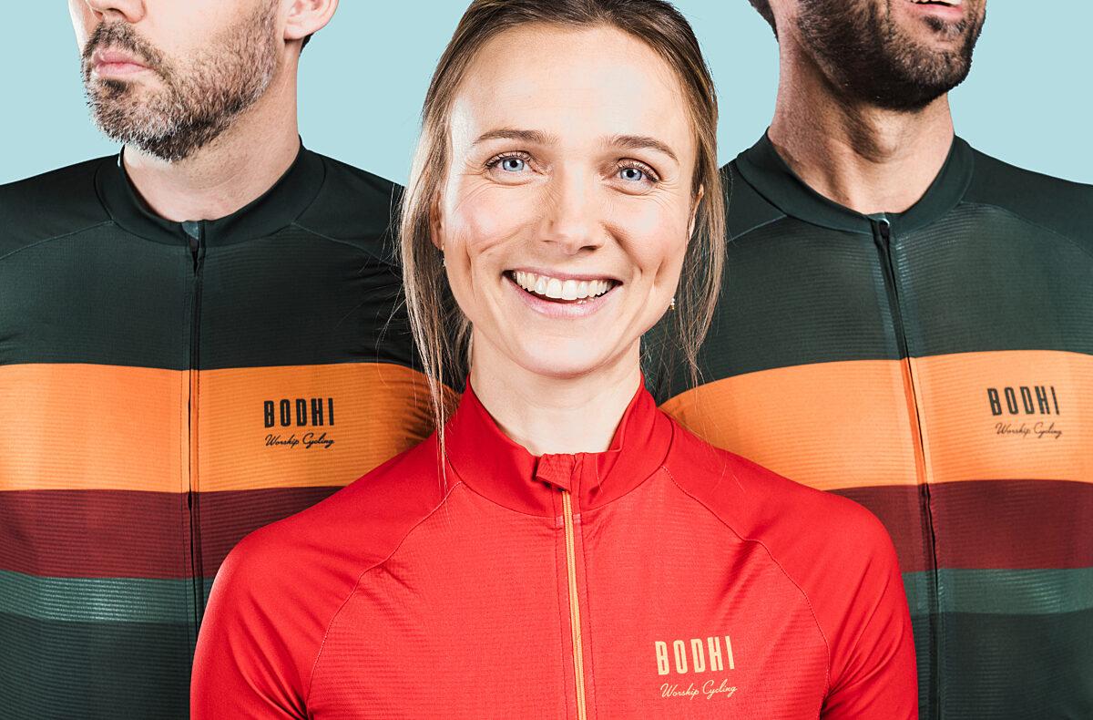 BodhiCycling_Anneleen_Pascale&Bavo_Truikortemouw_Rood_Groen_Oranje