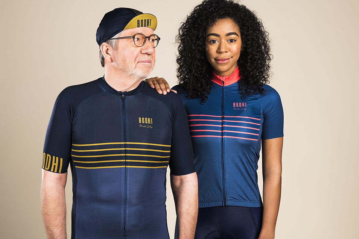 BodhiCycling_Bob&Helen_Truikortemouw_Blauw_Goud_Roos
